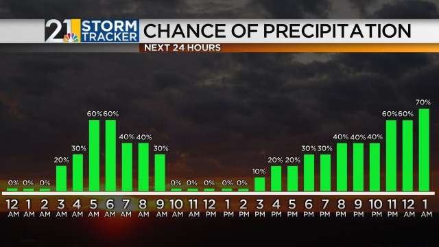 Hourly Precipitation Chances